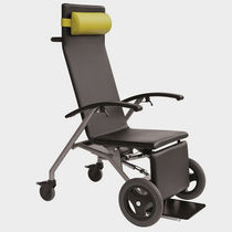 Medical armchair / contemporary / steel / with footrest