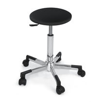 Contemporary stool / synthetic leather / commercial / adjustable-height