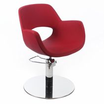 Styling armchair / contemporary / textile / swivel