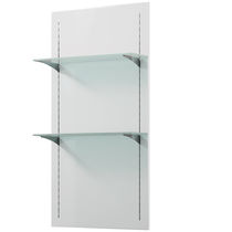 Wall-mounted display rack / beauty product / glass / wooden