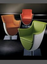 Original design armchair / polyurethane / central base