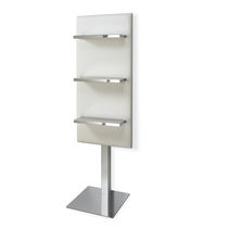 Beauty product display rack / steel / for hairdressers