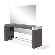 Contemporary dressing table / plastic / for hairdressers / 2-seater