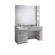 Contemporary dressing table / laminate / for hairdressers / with indirect lighting