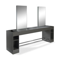 Contemporary dressing table / laminate / for hairdressers / 4-seater
