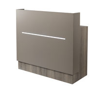 Laminate reception desk / for hairdressers / illuminated