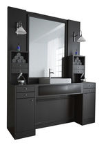Contemporary dressing table / plastic / for hairdressers / with indirect lighting