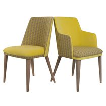 Contemporary restaurant chair / upholstered / fabric