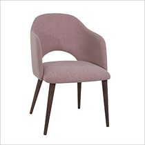 Contemporary armchair / fabric / bridge / contract