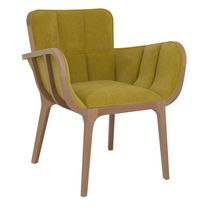 Contemporary armchair / fabric / beech / contract