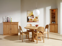 Traditional dining table / oak / round