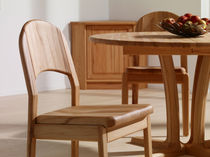 Contemporary dining chair / beech