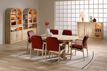 Contemporary dining table / ash / oval