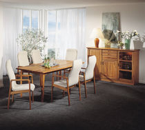 Contemporary dining table / teak