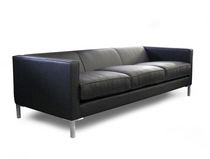 Contemporary sofa / leather / 3-seater