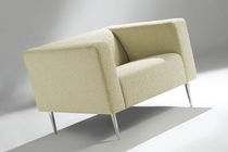 Contemporary armchair / in textile