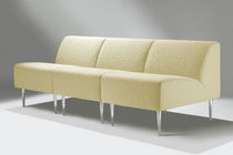 Contemporary armchair / in textile / modular