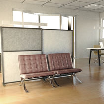 Floor sound-absorbing panel / polyester fiber / for offices / design
