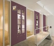 Wall-mounted display panel / indoor / steel