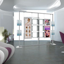 Beauty product display rack / aluminum / for hairdressers