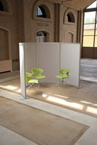 Floor-mounted desk partition / plastic / modular