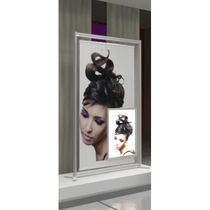 Beauty product display rack / aluminum / for shops / for hairdressers