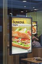 Wall-mounted display panel / indoor / luminous