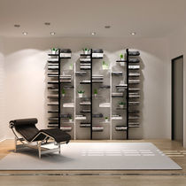 Modular bookcase / wall-mounted / high / low