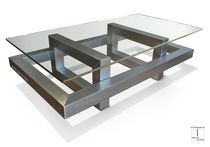 Contemporary coffee table / metal / iron / lacquered metal
