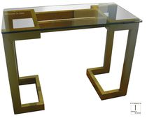 Contemporary sideboard table / metal / iron / lacquered metal