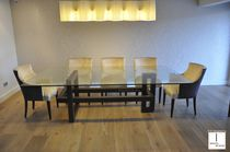 Contemporary table / crystal / rectangular