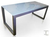 Glass desk / contemporary