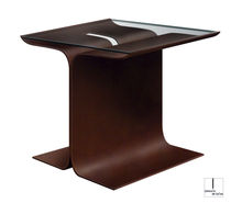 Side table / contemporary / metal / rectangular