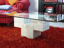 Coffee table / rectangular / contemporary / marble