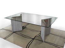 Contemporary table / marble / indoor / residential