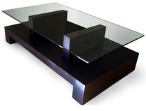 Coffee table / contemporary / glass / indoor