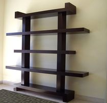 Contemporary shelf / in wood