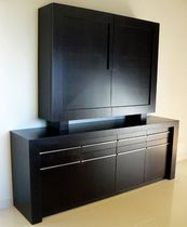 High sideboard / contemporary / in wood