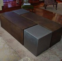 Coffee table / contemporary / metal / indoor