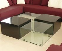 Coffee table / contemporary / glass