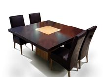 Contemporary table / oak / indoor / residential