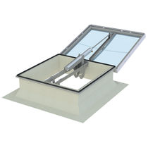 Lighting skylight / smoke control / for roofs / with skylight frame