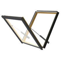 Tilting roof window / wooden / double-glazed