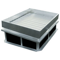 Polycarbonate natural lighting dome / for flat roofs / with smoke-extraction vent