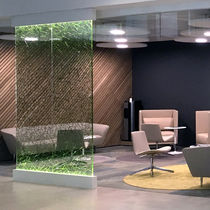 Decorative panel / acrylic / for partition walls / backlit