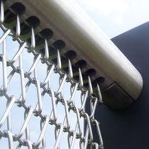Metal fastening system / for handrails / exterior