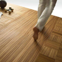 Engineered parquet flooring / zebrano / oiled