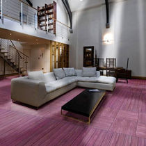 Engineered parquet flooring / purpleheart / painted