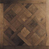 Indoor mosaic tile / floor / wooden / matte