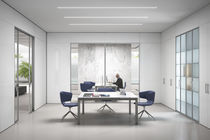 Removable partition / laminate / wooden / glazed